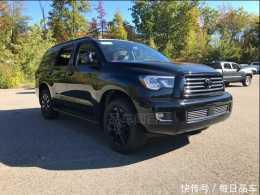 新款豐田紅杉現身,黑武士造型比陸巡大氣,非承載車身配V8